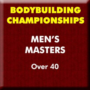Mens Bodybuilding Masters Over 40