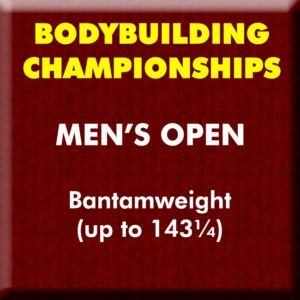 Mens Bodybuilding Open Bantamweight