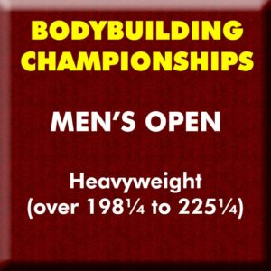 Mens Bodybuilding Open Heavyweight