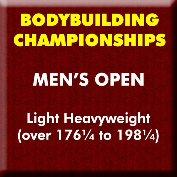 Mens Bodybuilding Open Light Heavyweight