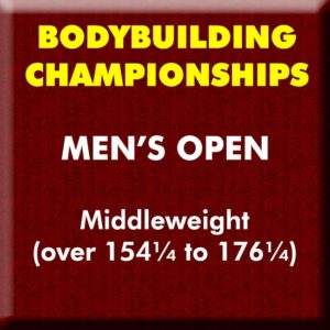 Mens Bodybuilding Open Middleweight