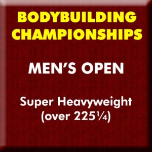 Mens Bodybuilding Open Super Heavyweight